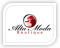 We created this logo for alla moda