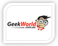 geek world logo design