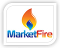 market fire logo design