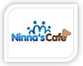 We created this logo for ninna's cafe